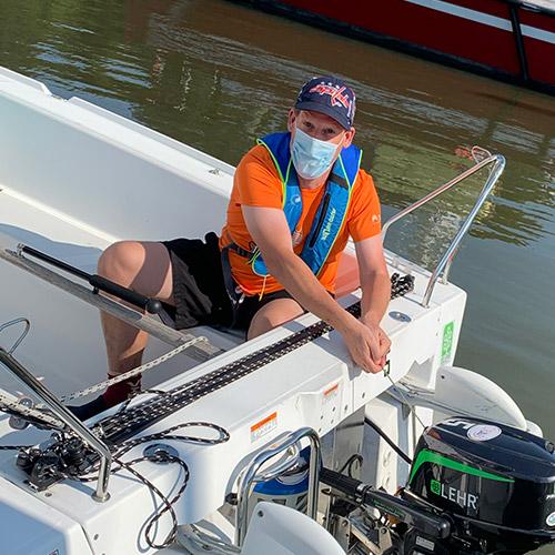 CRAB Sailing in Annapolis with OBI